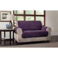 Puff Loveseat Protector in Purple