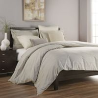 Declan Stripe Twin Duvet Cover Set in Taupe