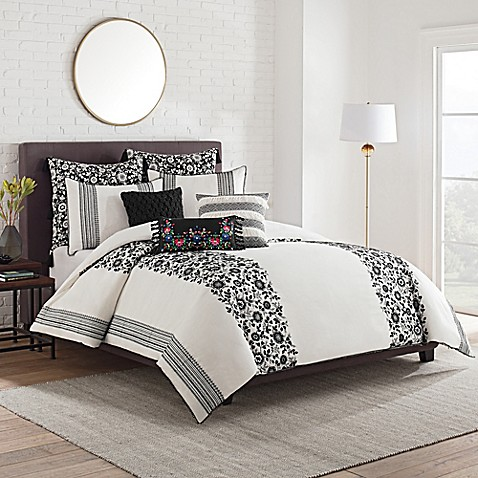 Cupcakes And Cashmere Folk Floral Duvet Cover Bed Bath
