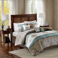 Madison Park Caroline Queen Comforter Set in Blue