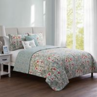 VCNY Home Evangeline Reversible Twin Quilt Set in Blue