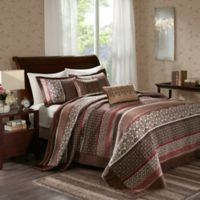 Madison Park Princeton 5-Piece Queen Bedspread Set in Red