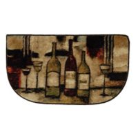 Mohawk Home Wine and Glasses 1-Foot 6-Inch x 2-Foot 6-Inch Slice Rug in Brown