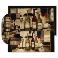 Mohawk Home Wine and Glasses Accent Rug in Brown (Set of 3)