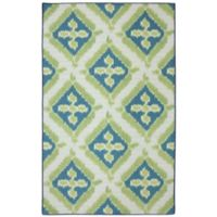 Mohawk Home Summer Splash Indoor/Outdoor 5-Foot x 7-Foot Area Rug in Turquoise