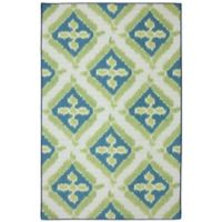 Mohawk Home Summer Splash Indoor/Outdoor 7-Foot 6-Inch x 10-Foot Area Rug in Turquoise