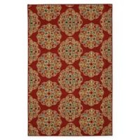 Mohawk Home Kolam 5-Foot x 7-Foot Area Rug in Red