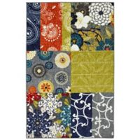 Mohawk Home Secret Garden Patchwork 7-Foot 6-Inch x 10-Foot Multicolor Area Rug
