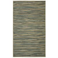 Mohawk Home Melody Cool Stripe 7-Foot 6-Inch x 10-Foot Area Rug