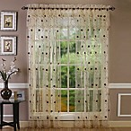 Astor 108-Inch Sheer Embroidered Rod Pocket Window Curtain Panel in Gold