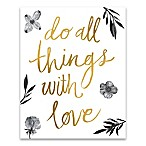 All Things with Love 16-Inch x 20-Inch Canvas Wall Art