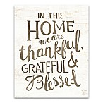 Thankful Home 16-Inch x 20-Inch Canvas Wall Art