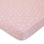 ED Ellen DeGeneres Cotton Tail Heart-Print Fitted Crib Sheet in Pink/Peach