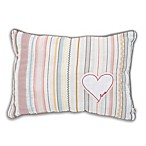 ED Ellen DeGeneres Cotton Tail Oblong Throw Pillow in Grey/Pink