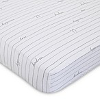 ED Ellen DeGeneres Starry Night Love Striped Fitted Crib Sheet