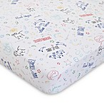 ED Ellen DeGeneres Doodle Dog Fitted Crib Sheet
