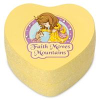 "Precious Moments® Pretty as a Princess Heart-Shaped ""Faith Moves Mountains"" Trinket Box"