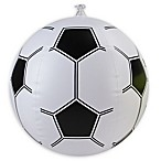 Pool Central 16-Inch Inflatable Beach Soccer Ball in Black/White