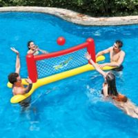Pool Central Water Volleyball Game in Red/Yellow