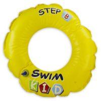 "Pool Central Swim Kid ""Step B"" 20-Inch Inner Tube Ring Float in Yellow"