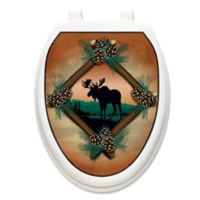 Toilet Tattoos® Moose at Sunset Decorative Applique for Elongated Toilet Lids