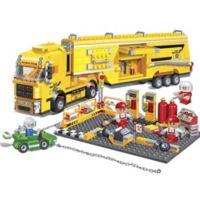 BanBao Racer Maintenance Truck Building Set in Yellow