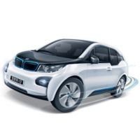 BanBao BMW I3 Mini Pullback Car Building Set in White