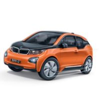 BanBao BMW I3 Mini Pullback Car Building Set in Orange
