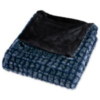 Nottingham Home Plush Faux Mink Throw Blanket in Teal