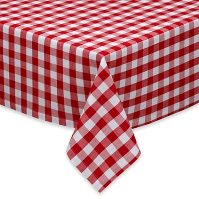 Exceptionnel Design Imports Checkers 52 Inch Square Tablecloth In Red/White