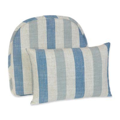 Klear Vu Liza Stripe Gripper® Chair Pad And Lumbar Pillow Set In Blue