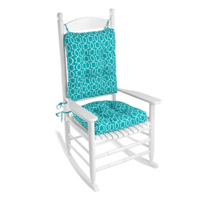 Klear Vu Titan Easy Care 2 Piece Rocking Chair Pad Set In Turquoise