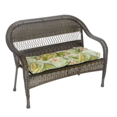 klear vu jamaica easy care outdoor bench cushion in green