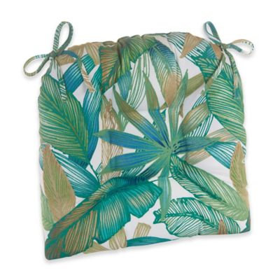 Klear Vu Tropical Leaves Easy Care Outdoor XL Chair Cushion
