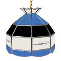 Chrysler Logo Stained Glass Pendant Billiard Lamp in Blue/Black/White