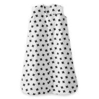 HALO® SleepSack® Fleece Medium Plus Signs Wearable Blanket in White/Black