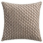 Haven Crochet Square Throw Pillow in Khaki
