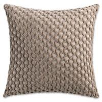 Haven Crochet Square Throw Pillow in Khaki