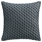 Haven Crochet Square Throw Pillow in Slate