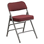 Flash Furniture Patterned Fabric Folding Chair in Burgundy