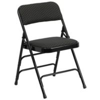 Flash Furniture Fabric Folding Chair in Black
