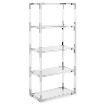 translucent furniture. Safavieh Couture Hayley Acrylic Bookshelf In Silver/Clear Translucent Furniture