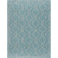 Tayse Veranda Geometric 7-Foot 10-Inch x 10-Foot 3-Inch Indoor/Outdoor Area Rug in Aqua