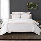 Wamsutta® Hotel Border MICRO COTTON® Full/Queen Duvet Cover Set in White/Blush