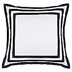 Wamsutta® Hotel Border MICRO COTTON® European Pillow Sham in White/Navy