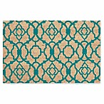 Nourison Waverly Greetings 2' x 3' Door Mat in Aqua