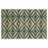 Nourison Waverly Greetings 2' x 3' Door Mat in Teal