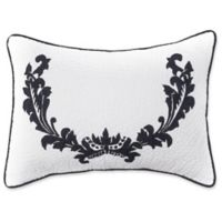 Amity Home Damask Bolster Throw Pillow in Black
