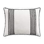 Cupcakes and Cashmere Folk Floral Standard Pillow Sham in Black/White