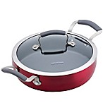 Epicurious Aluminum Nonstick 3 qt. Covered Sauteuse in Red